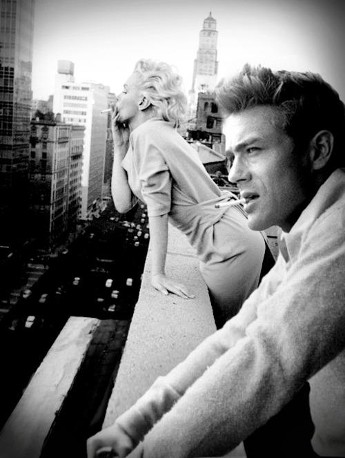 iconography | james dean + marilyn monroe